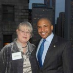 Leslie Recht, President of the Cliff Dwellers Club and Alderman William D. Burns